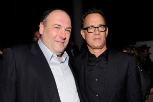 James Gandolfini et Tom Hanks, producteur du film