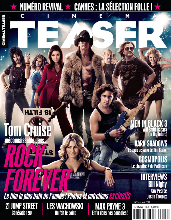 Cinemateaser, le magazine - Numéro 14 - Rock Forever, avec Tom Cruise - Cannes 2012 - Cosmopolis - Men in Black 3