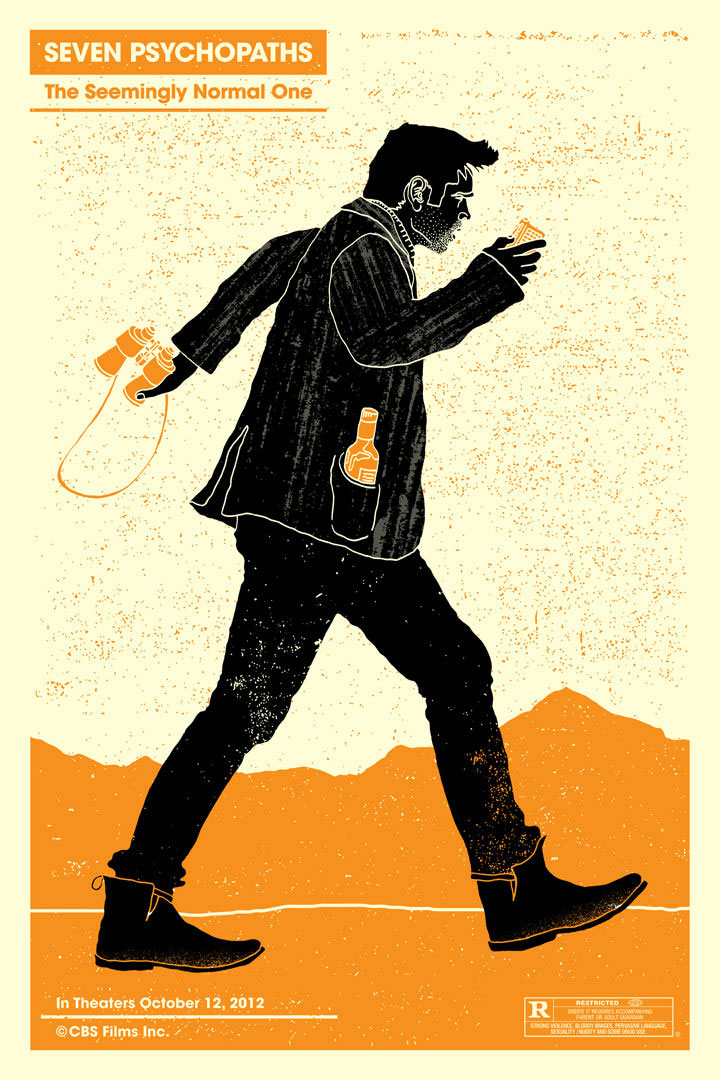 3-SEVEN-PSYCHOPATHS-DESIGNER-CHARACTER-POSTERS